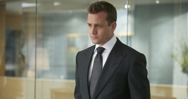Suits, pictured: Gabriel Macht as Harvey Specter, photo by: Ian Watson/USA Network.